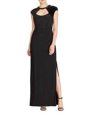 Lauren Ralph Lauren Cutout Jersey Column Gown-BLACK-16