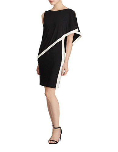 Lauren Ralph Lauren Timna colourblock Overlay Dress-BLACK-18