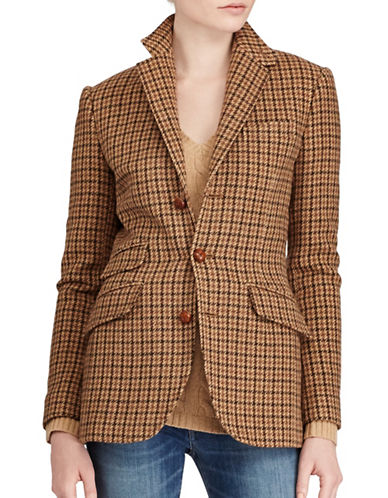 Polo Ralph Lauren Houndstooth Blazer-BROWN-12