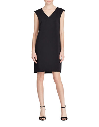 Polo Ralph Lauren Cap Sleeve Shift Dress-BLACK-2