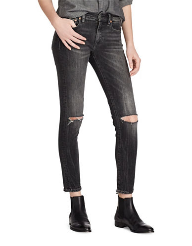 Polo Ralph Lauren Tompkins Cropped Skinny Jeans-BLACK-30