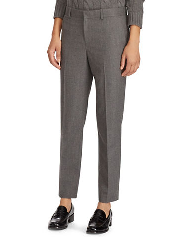 Polo Ralph Lauren Wool Straight Pants-GREY-8