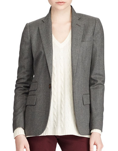 Polo Ralph Lauren Slim-Fit Wool Single-Button Blazer-GREY-8