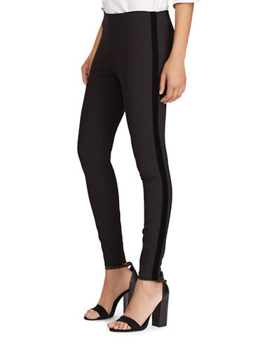 Polo Ralph Lauren Skinny Tuxedo Pants-POLO BLACK-8