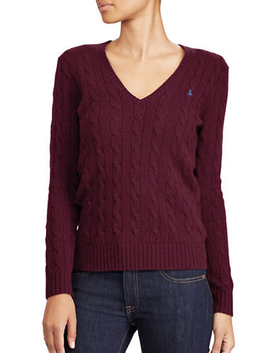 Polo Ralph Lauren Cable-Knit Sweater-RED-Medium