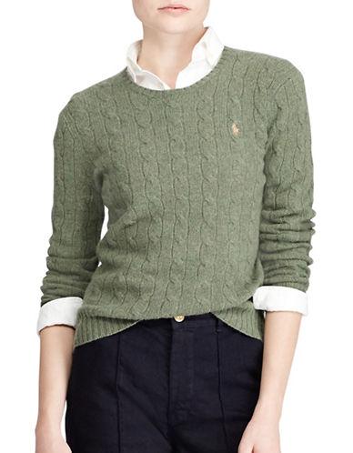 Polo Ralph Lauren Long Sleeve Sweater-GREEN-X-Small