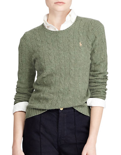 Polo Ralph Lauren Long Sleeve Sweater-GREEN-X-Large