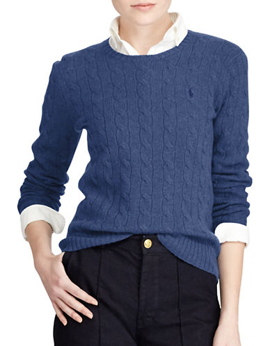 Polo Ralph Lauren Long Sleeve Sweater-BLUE-Small