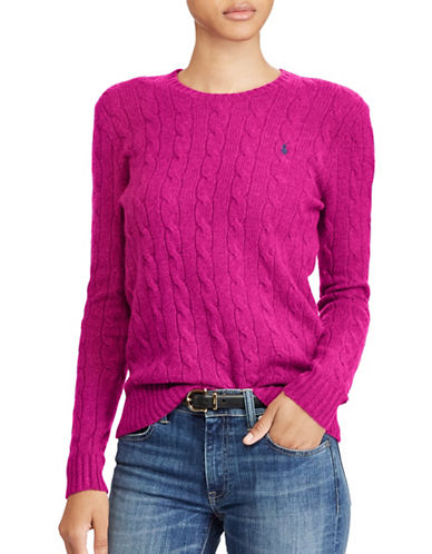 Polo Ralph Lauren Crewneck Sweater-PINK-X-Small