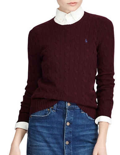 Polo Ralph Lauren Long Sleeve Sweater-RED-Small