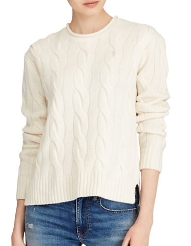 Polo Ralph Lauren Cable Sweater-CREAM-Small