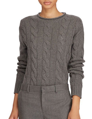 Polo Ralph Lauren Long Sleeve Sweater-GREY-X-Large