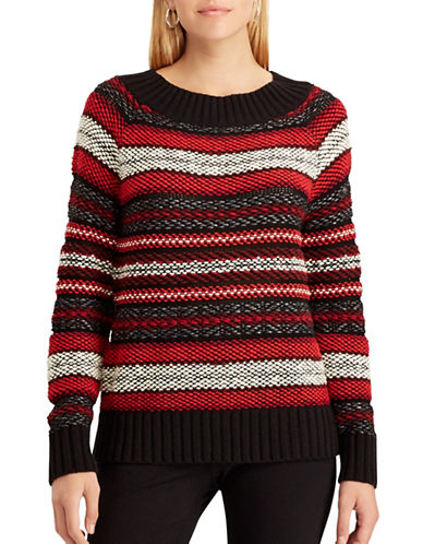 Chaps Paige Sweater-BLACK-X-Large