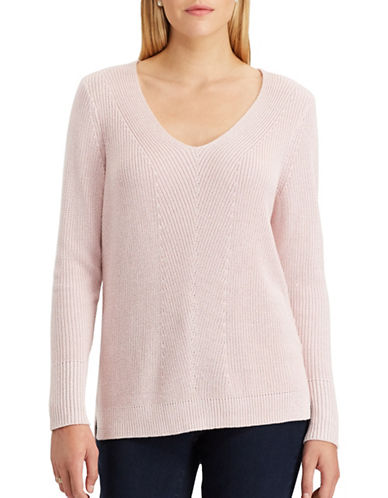 Chaps Quinny Metallic Sweater-PINK MULTI-Small