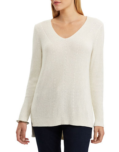Chaps Quinny Long-Sleeve Sweater-PEARL-Medium