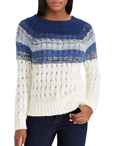 Chaps Paige Sweater-BLUE-Large