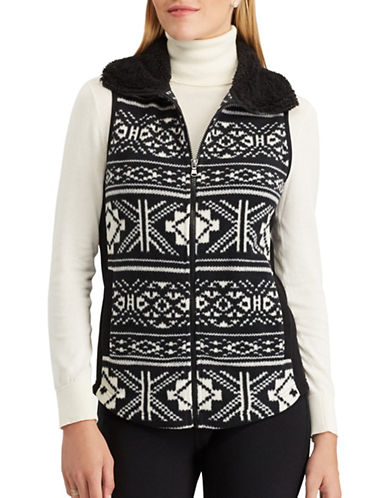 Chaps Maddock Full-Zip Vest-BLACK-X-Small