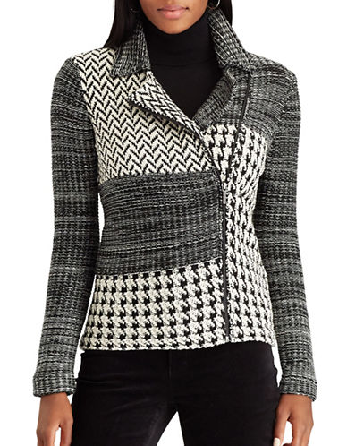 Chaps Demar Cotton Jacket-BLACK MULTI-Large