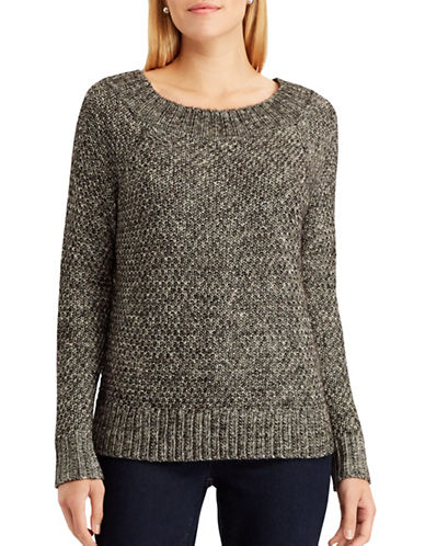 Chaps Paige Sweater-BLACK-Small