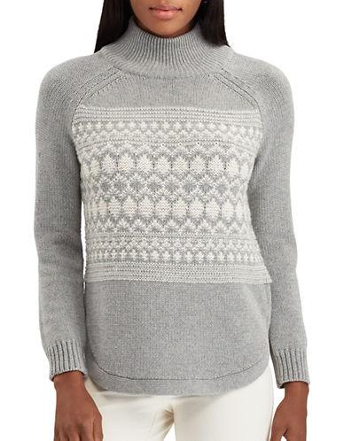 Chaps Miranda Long Raglan Sleeve Sweater-GREY-X-Large