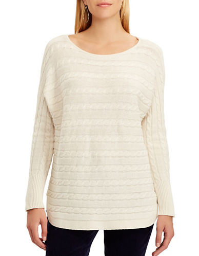 Chaps Catriona Cable-Knit Sweater-NATURAL-X-Large
