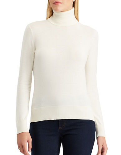 Chaps Peggy Cotton Turtleneck-NATURAL-X-Large