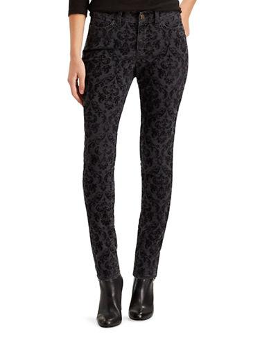 Chaps Rachel Patterned Skinny Jeans-BLACK-8