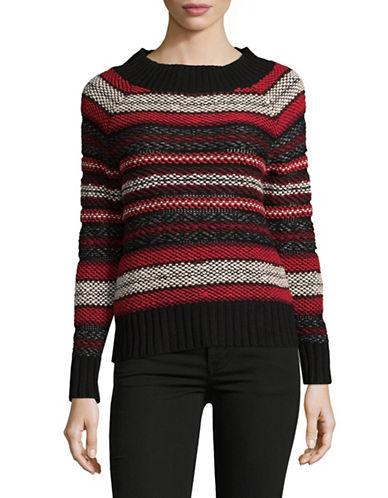 Chaps Petite Paige Sweater-BLACK-Petite Large