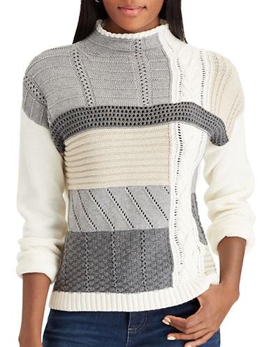 Chaps Petite Mock Neck Sweater-WHITE-Petite X-Large