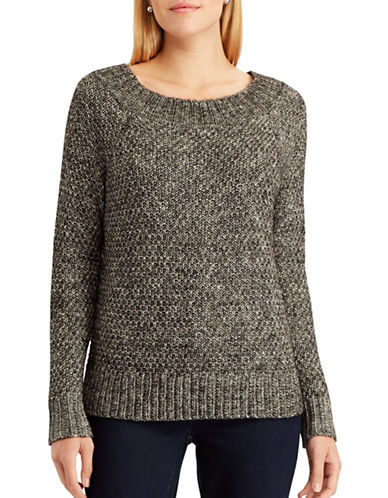 Chaps Petite Paige Sweater-BLACK-Petite X-Large