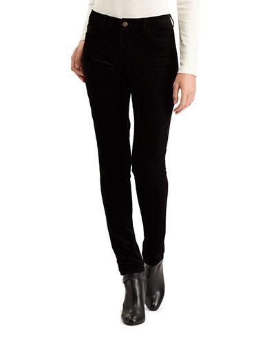 Chaps Petite Mid-Rise Skinny Jeans-BLACK-Petite 14