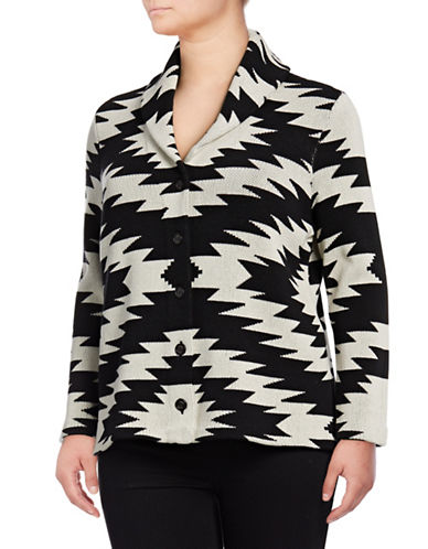 Chaps Plus Arienna Cotton Cardigan-CRM MULTI-1X