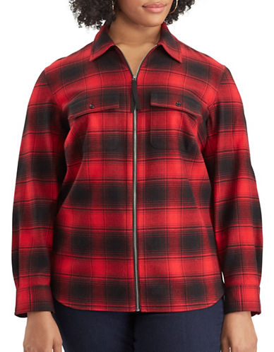 Chaps Plus Long-Sleeve Cotton Shirt-RED-2X