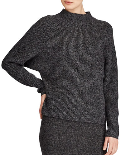 Polo Ralph Lauren Mockneck Sweater-BLACK/GREY-Large