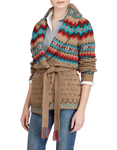 Polo Ralph Lauren Fair Isle Cardigan-BEIGE MULTI-X-Small