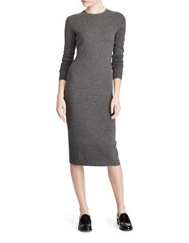 Polo Ralph Lauren Long Sleeve Midi Dress-GREY-Large