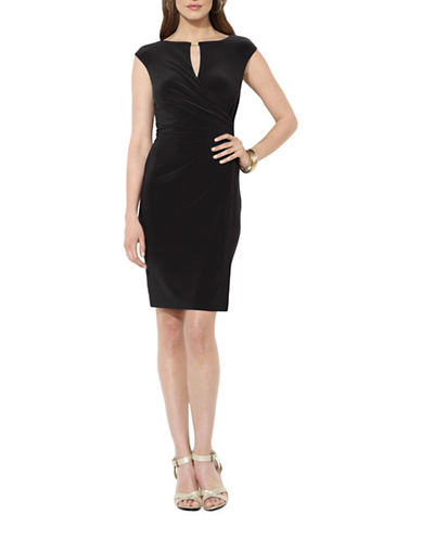 Lauren Ralph Lauren Jersey Bateau Neck Dress-BLACK-18