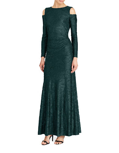 Lauren Ralph Lauren Burnout Velvet Gown-GREEN-10