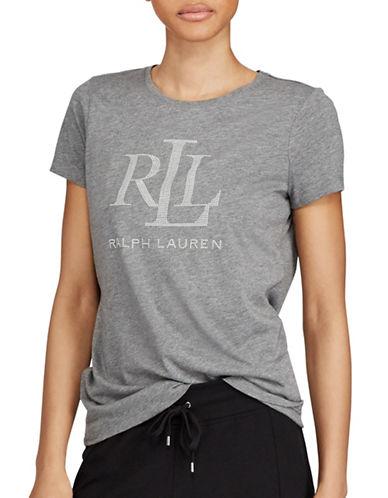 Lauren Ralph Lauren Studded Jersey T-Shirt-GREY-X-Large 89526347_GREY_X-Large