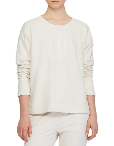 Lauren Ralph Lauren French Terry Sweatshirt-NATURAL-X-Small