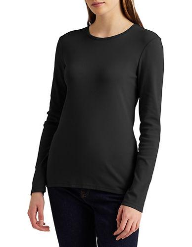 Lauren Ralph Lauren Stretch Blouse-BLACK-Large