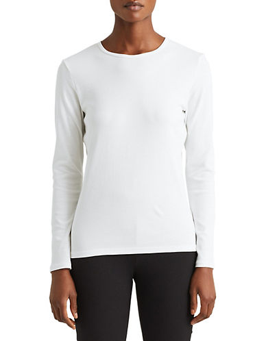 Lauren Ralph Lauren Stretch Blouse-WHITE-Large