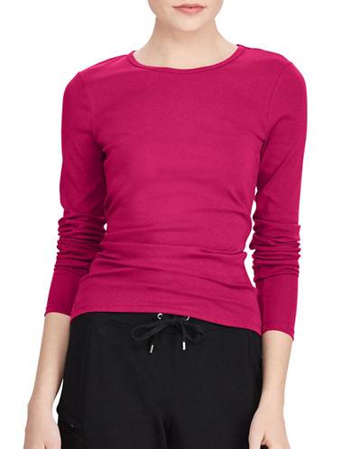 Lauren Ralph Lauren Stretch Blouse-RED-X-Large
