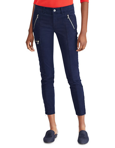 Lauren Ralph Lauren Twill Mid-Rise Skinny Cargo Pants-RL NAVY-6