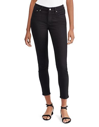 Lauren Ralph Lauren Curve Premier Cropped Jeans-BLACK-12 89955832_BLACK_12