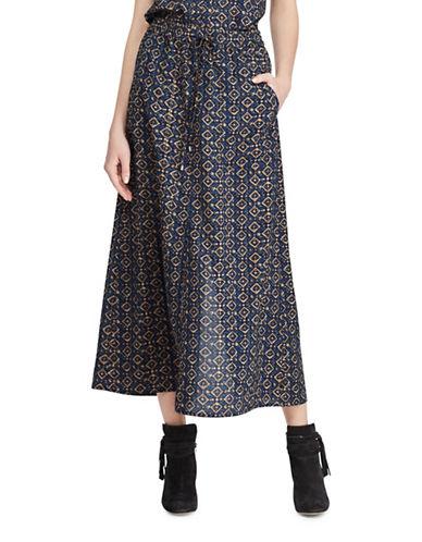 Lauren Ralph Lauren Petite Crepe de Chine Cargo Maxi Skirt-MULTI-Petite X-Small