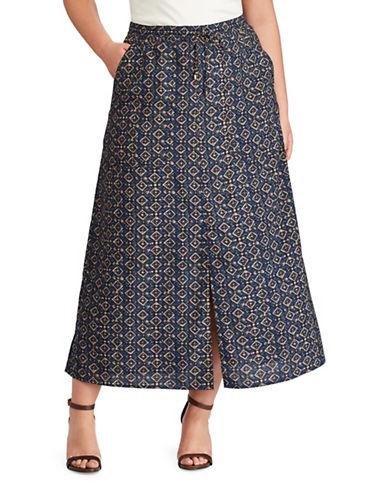 Lauren Ralph Lauren Plus Cargo Maxi Skirt-MULTI-2X