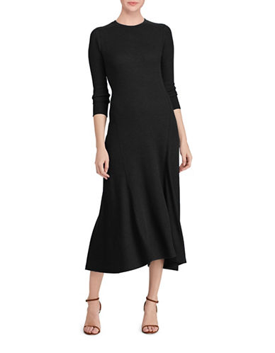 Polo Ralph Lauren Waffle Knit Fit-And-Flare Dress-POLO BLACK-Medium