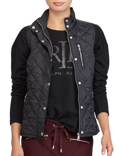 Lauren Ralph Lauren Diamond Quilted Vest-BLACK-Large