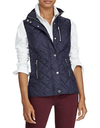 Lauren Ralph Lauren Diamond Quilted Vest-BLUE-Medium